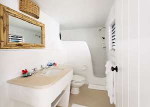 Sea View Cottage Bathroom, Guana Island, Guana Island