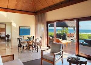 Double Suite Villa Living Room, Shanti Maurice, Mauritius