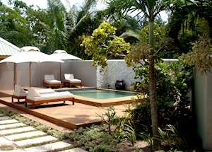Beach villa,Denis Private Island