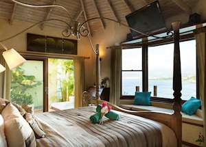 Rock Fig Villa Bedroom, Maca Bana Luxury Boutique Resort, Grenada