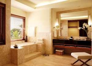 Junior Suite bathroom, Shanti Maurice, Mauritius