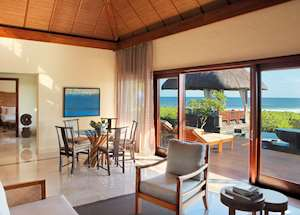 Double Suite Villa Living Room, Shanti Maurice, Mauritius
