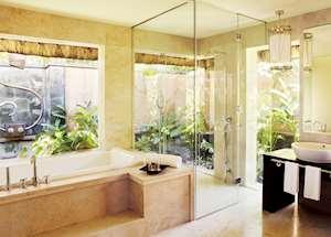 Shanti Villa bathroom, Shanti Maurice, Mauritius