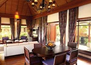 Shanti Villa living area, Shanti Maurice, Mauritius