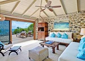 One Bedroom Cottage Lounge, Petit St. Vincent, Petit St Vincent