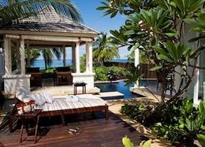 Outdoor lounge area, Two Bedroom Double Pool Villa, Banyan Tree Seychelles , Mahe