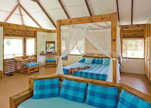 Bungalow bedroom,Bird Island Lodge,Bird Island