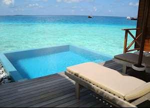 Lagoon bungalow with plunge pool, Huvafen Fushi, Maldive Island