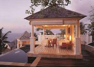 Intendance Villa pool at Banyan Tree, Seychelles