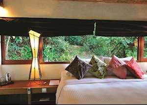 Jungle Luxe Sarang bedroom, JapaMala, Tioman Island