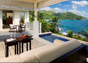 Pool villa by the rocks, Banyan Tree Seychelles, Mahe