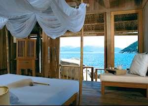 Rock Villa bedroom at the Evason Hideaway Resort