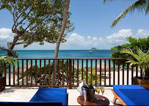 Seagrape Suite Balcony, Palm Island Resort & Spa, Palm Island