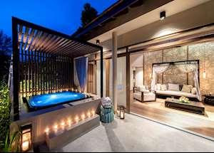 Jacuzzi pool suite terrace, Sarojin Khao Lak
