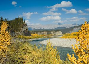 Yukon River and Mountains