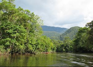 The Tutoh River winds through Mulu National Park