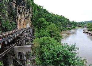 The railway track over the River Kwai, Kanchanaburi