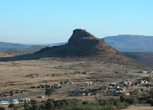 View of Isandlwana Hill, Isandlwana Lodge