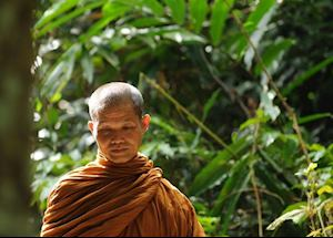 Monk at Khao Yai National Park, Thailand