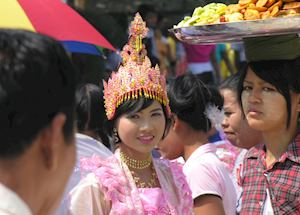 Girl at ceremony, Mandalay
