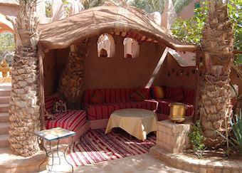 Breakfast area, Kasbah Derkaoua, The Erg Chebbi