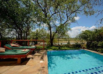 Deluxe tent, Selous Riverside Safari Camp, Selous Game Reserve