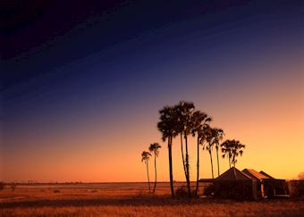 Sunset at Jacks Camp, Makgadikgadi Pans