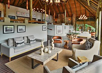 Shamwari Bayethe Lodge, lounge area