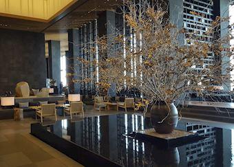 Beautiful lobby of Aman Tokyo