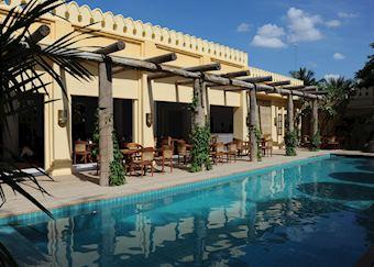 Swimming pool at Areindmar Hotel, Bagan, Burma (Myanmar)