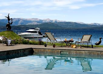 View from the pool at Hotel el Casco, Bariloche