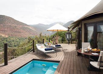 Berber Tent Suite with plunge pool, Kasbah Tamadot