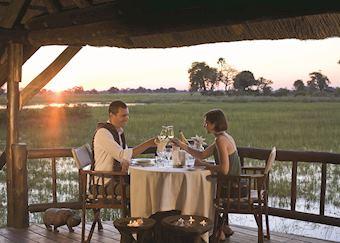 Romantic dinner, Eagle Island Camp, Gunn's Concession