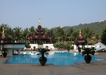 Swimming pool at the Mandalay Hill Resort, Mandalay