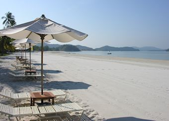 The beach at Casa Del Mar, Langkawi