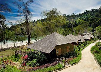 Beachfront villas, Bunga Raya Island Resort