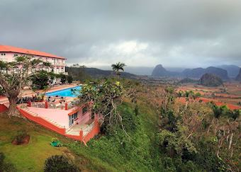 View from Hotel Los Jazmines, Vinales