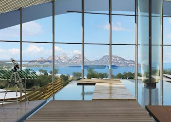 View from Main Building, Saffire, Freycinet National Park