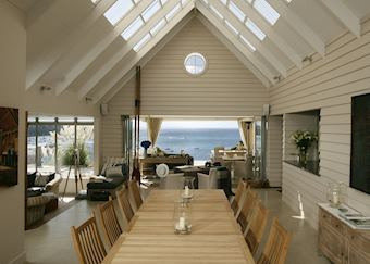The dining room, The Boatshed, Waiheke Island