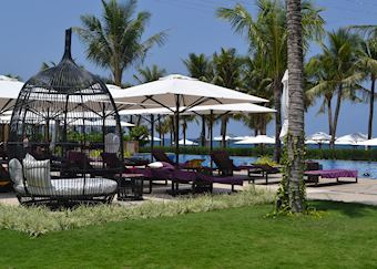 Pool area at the Salinda resort