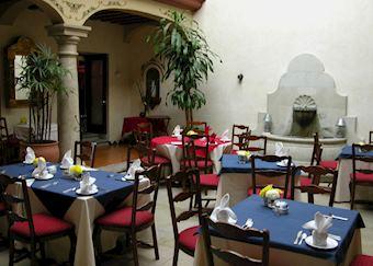 Restaurant attached to Casa Catrina, Oaxaca