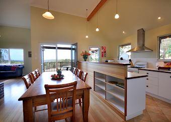 Kitchen in Dragonfly cottage, Wildwood Valley, The Margaret River region