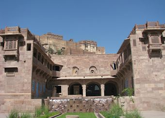 A heritage building at Raas that houses their spa and family rooms, Jodhpur