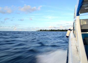 En route to Mataking Island, Borneo