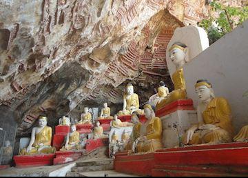Kawgun Cave, Hpa An, Burma (Myanmar)