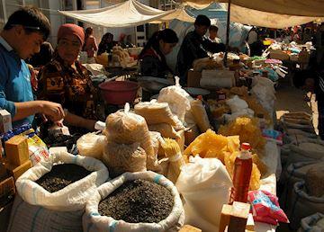 Food Traders, Urgut Market, Uzbekistan