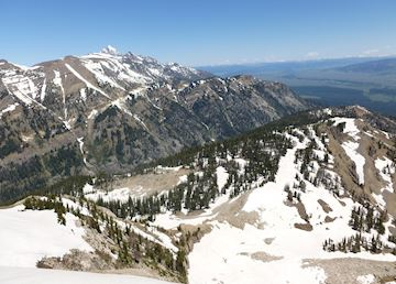 The view from the top of the Teton Village gondola, Grand Teton National Park