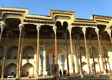 Bolohauz Mosque, Bukhara, Uzbekistan