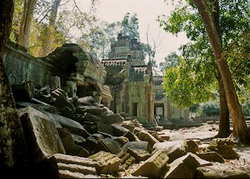 Crumbling stones of Ta Prohm, Siem Reap