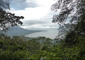 View from Volcan Maderas over Ometepe Island